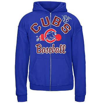 Chicago Cubs - Glitter Logo Girls Juvy Zip Hoodie