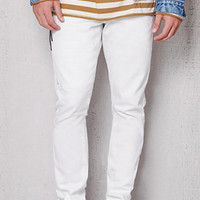 PacSun Stacked Skinny Side Zip White Stretch Jeans at PacSun.com