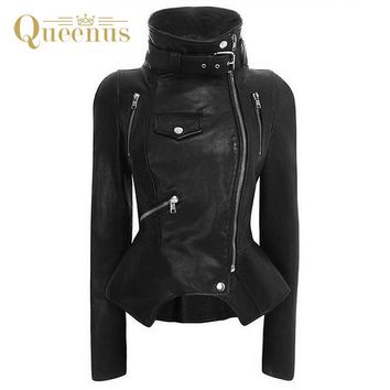 PU Leather Jacket Coat Women Winter Autumn Black Zipper Punk Jacket Outwear Motorcycle Fashion Female Jacket Coats Windbreaker