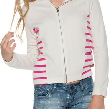 ROXY PLAYTIME STRIPED HOODIE