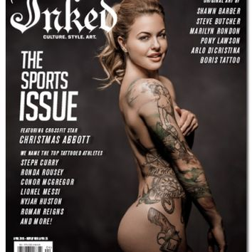 Inked Magazine: The Sports Issue Featuring Christmas Abbott - April 2016
