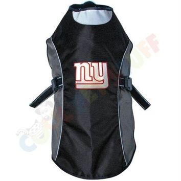 DCCKT9W New York Giants Water Resistant Reflective Pet Jacket