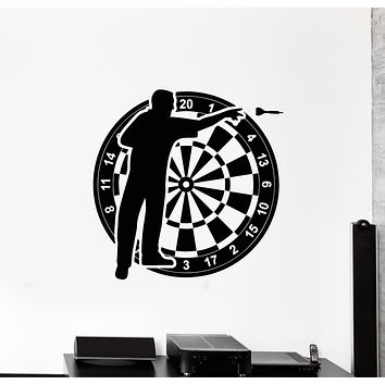 Vinyl Wall Decal Darts Player Target Shooting Game Playroom Stickers Mural (g2762)