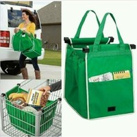 GRAB BAG Clip To Cart Reusable Grocery Shopping Bags 1 Pack Foldable Tote Bag LD