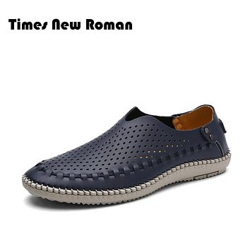 Causal Shoes Men split Leather Moccasins Men Driving Shoes High Quality Flats For Man