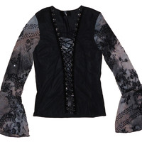 So Goth Lace Up Top L
