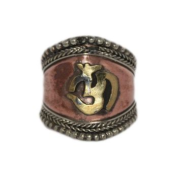 Adjustable Ring Copper Ring Handmade Ring Tibetan Ring Tribal Ring Gypsy Ring Om Ring RB244