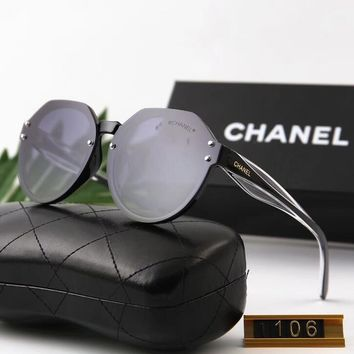 Chanel Stylish Ladies Men Simple Summer Style Sun Shades Eyeglasses Glasses Sunglasses(5-Color) I12573-1