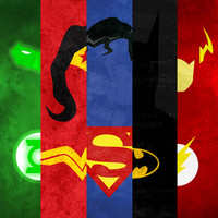 Justice League Stretched Canvas by TheLinC