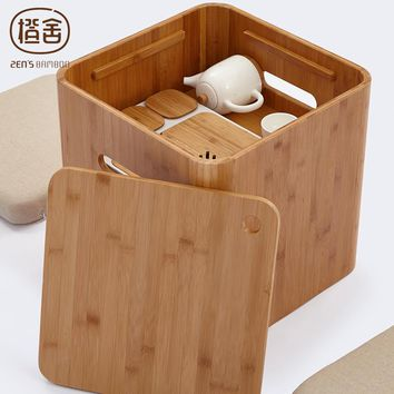 Japanese Tatami Multi Function Coffee Table Chinese Tea Table Small Square Stool Storage