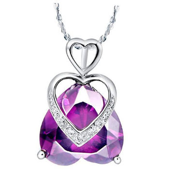 Accessories Crystal 925 Silver Necklace = 5839541889