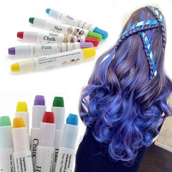 1pcs Dye Hair Powdery Temporary Hair Chalk Powder Dye Soft Pastels Salon Party M02197