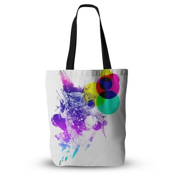 "Frederic Levy-Hadida ""Owl"" Purple Everything Tote Bag"