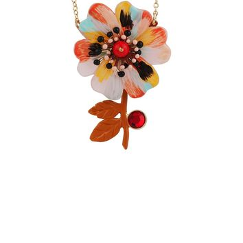 N2 by Les Néréides ENERGETIC BOTANY PASTEL RAINBOW FLOWER NECKLACE