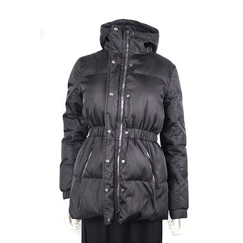 Moncler Black Goose Down Hooded Jacket US 2
