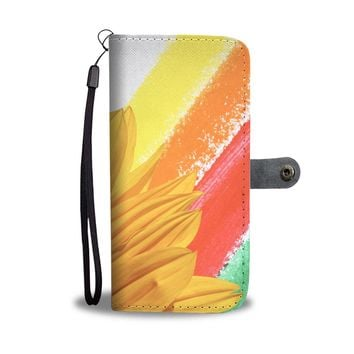 Rainbow Sunflower Phone Wallet Case