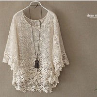 Nice Lace Hollow out Seven sleeve Overall