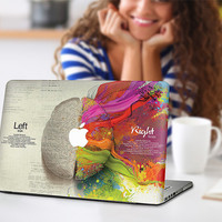 Left and Right Brain Macbook Laptop Notebook Skin Cover Decal vinyl Sticker Film KMB-071