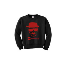 BREAKING BAD Heisenberg Sweater Black Unisex Sweatshirt Bryan Cranston Red