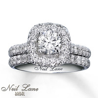 Neil Lane Bridal Set 1 7/8 ct tw Diamonds 14K White Gold