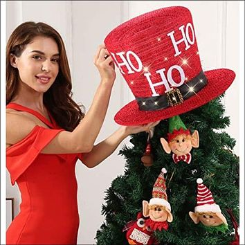 Hat Tree Topper add Ornament Sets Traditional and Countryside