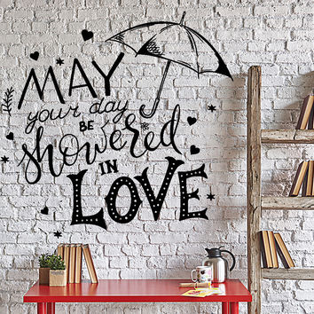 Wall Vinyl Decal Motivation Words Quote May Your Day Showered With Love Unique Gift 4319