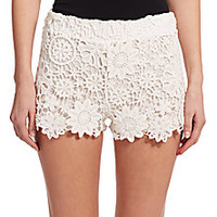 Nightcap Clothing - Floral Lace Shorts - Saks Fifth Avenue Mobile