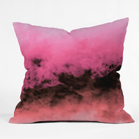 Caleb Troy Zero Visibility Highlighter Dust Throw Pillow