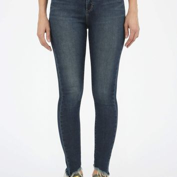 Women's Sammy Denim with Diagonal Frayed Hem