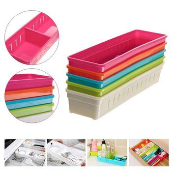 Drawer Storage Box Organizer Holder Supplies Small Objects Colorful Plastic