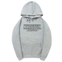 Stranger Things Light Gray Hoodie