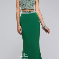 Two Piece Corset Prom Dress By Faviana