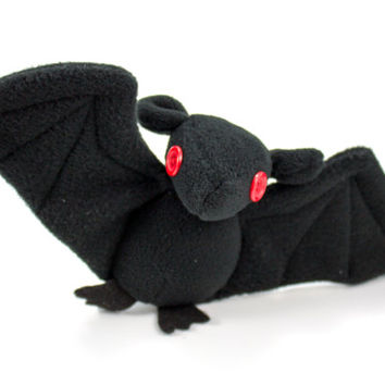 Halloween Bat Plush Toy Stuffed Animal with Button Eyes