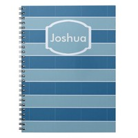 blue sea lines with noise spiral notebook