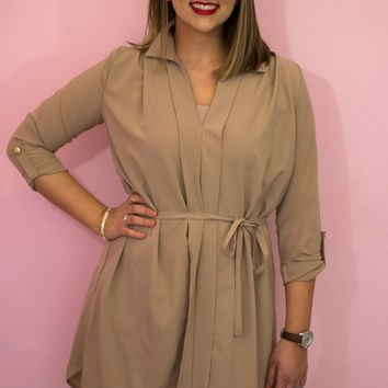 Take It From The Taupe Dress