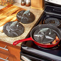 Cast Iron Press Panini Meat Sandwich Country Kitchen Cook Bacon