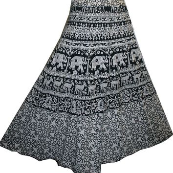 Gypsy Cotton Printed Wrap Skirt