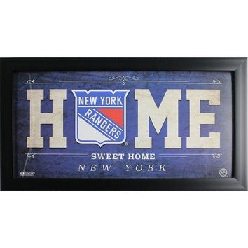 ONETOW New York Rangers 10x20 Home Sweet Home Sign