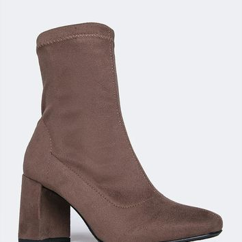 Kinsley Chunky Heel Sock Boot