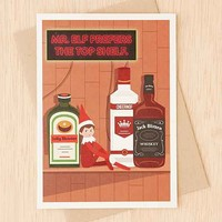 Seltzer Top Shelf Elf Holiday Card