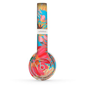 The Brightly Colored Watercolor Flowers Skin Set for the Beats by Dre Solo 2 Wireless Headphones