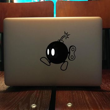 "Mario Bomb Super Brothers Vinyl Laptop Sticker for Apple MacBook Decal 11"" 12"" 13"" 15.6 Air Pro Retina Computer HP Notebook Skin"