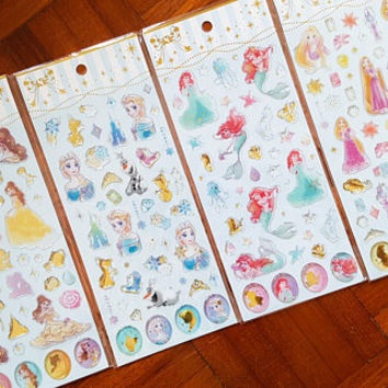 Disney Princess sticker, Princess sticker, Ariel sticker, Frozen sticker, Tangled sticker, Rapunzel sticker, Beauty and the Beast, Epoxy