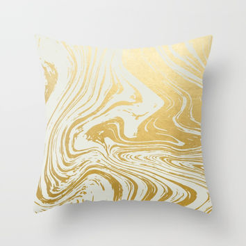 Gold Rush #society6 #decor #buyart Throw Pillow by 83 Oranges™