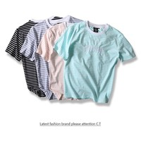 Summer Sweets Stripes Round-neck Cotton Short Sleeve T-shirts [10176391303]