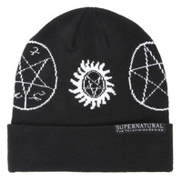 Supernatural Runes Watchman Beanie