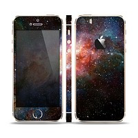 The Multicolored Space Explosion Skin Set for the Apple iPhone 5s