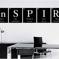 Inspire Periodic Table Wall Decal Vinyl Art Home Decor Education Science Motivation