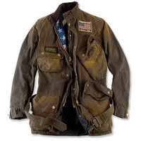 Men's Belted Motorcycle Jacket / Barbour® Steve McQueen Rexton Jacket -- Orvis