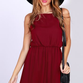 Classic Bow Back Dress Sangria
